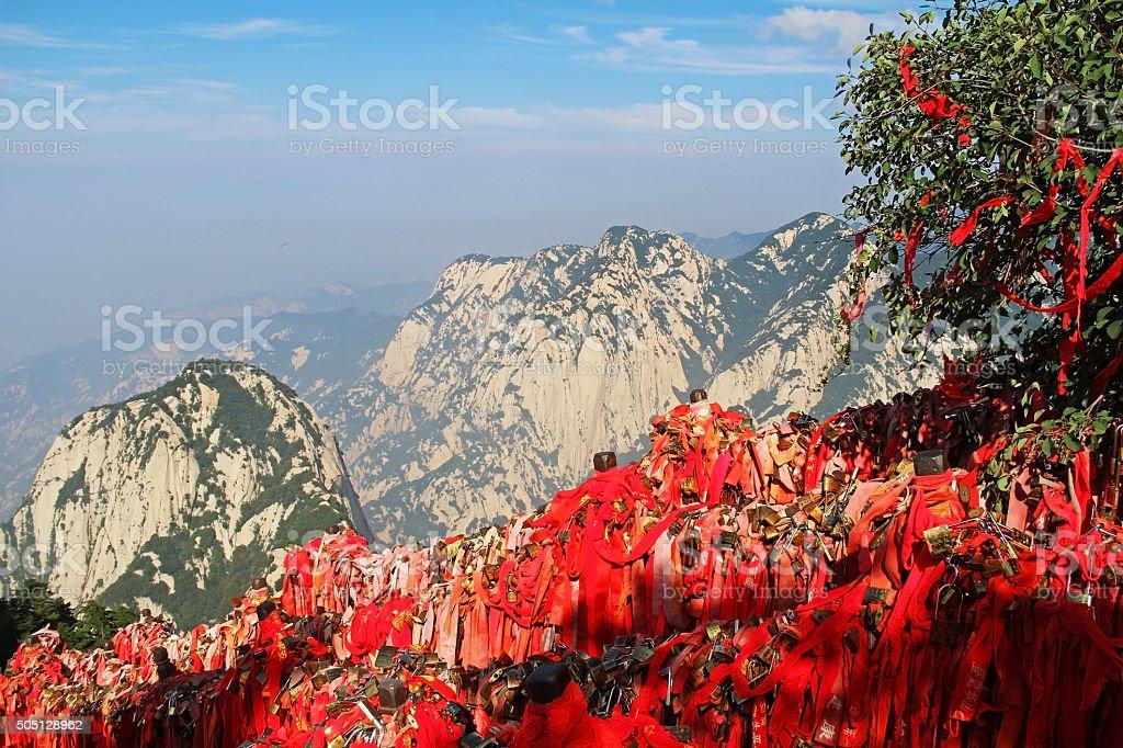 Huashan Mountain, Xian, China stock photo