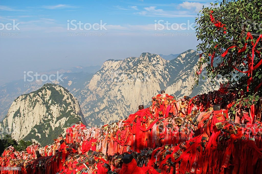 Huashan Mountain, Xian, China stock photo