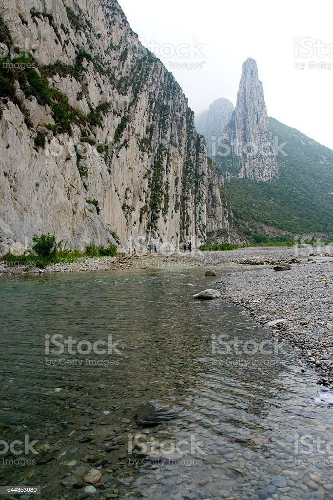 Huasteca river stock photo