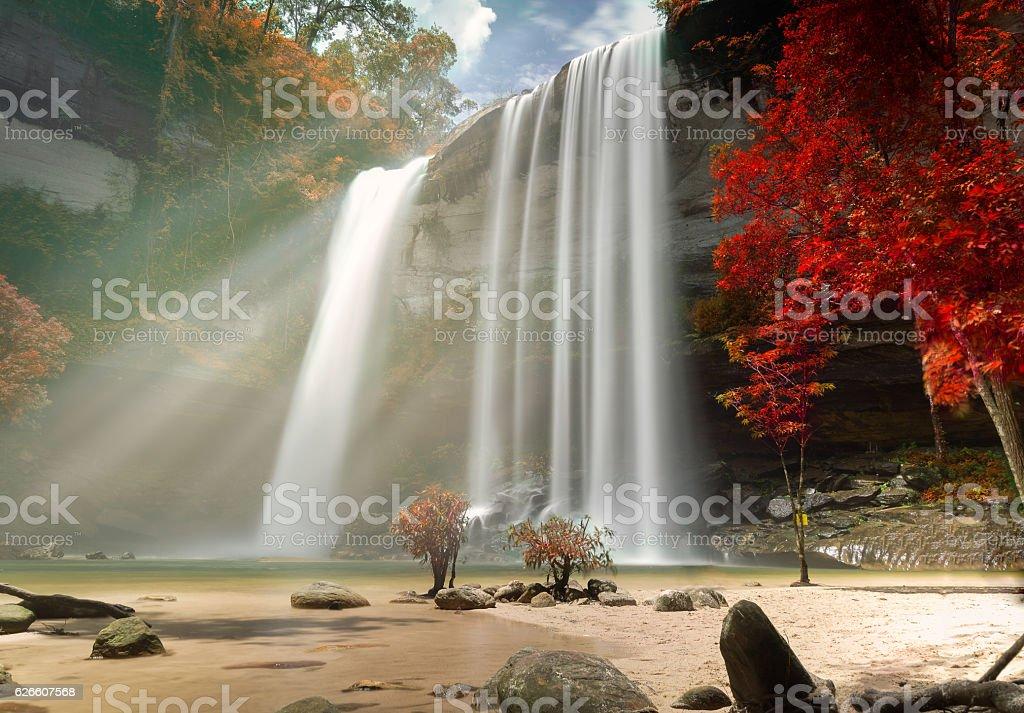 Huay Luang Waterfall stock photo