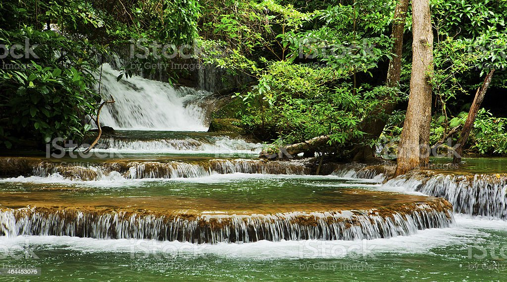 Huay Mae Kamin waterfall asia thailand royalty-free stock photo