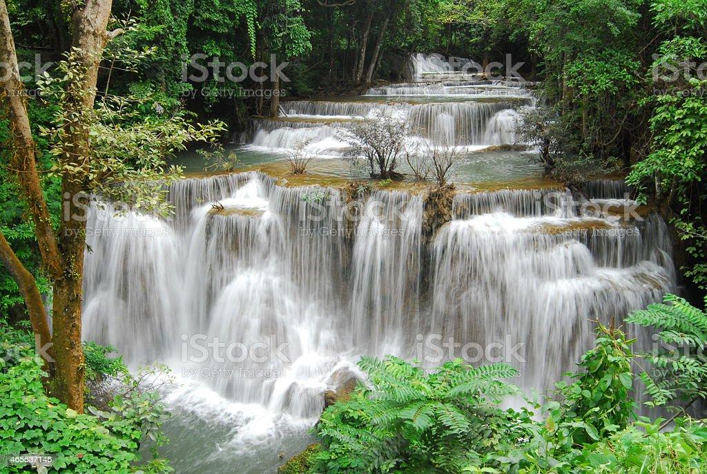 Huay Mae Kamin Wodospad zbiór zdjęć royalty-free