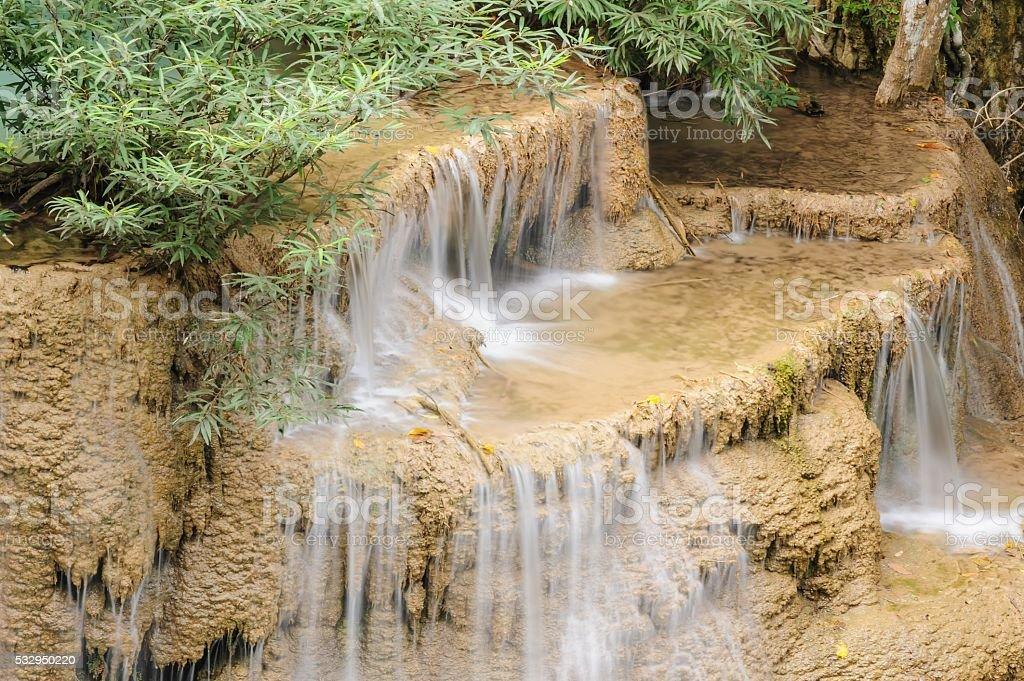 Huay Mae Khamin waterfall in National Park, Thailand. stock photo