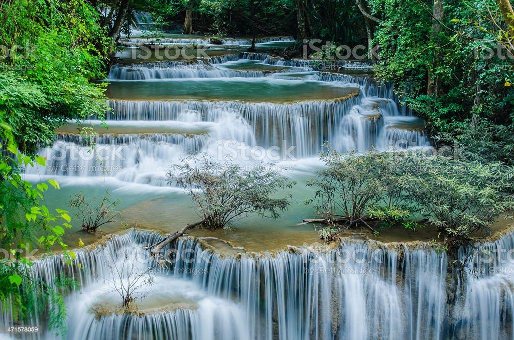 Huay Mae Khamin , Waterfall. stock photo