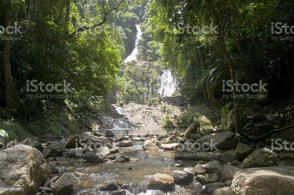 Huay Toh Waterfall Near Krabi In Thailand royalty-free stock photo