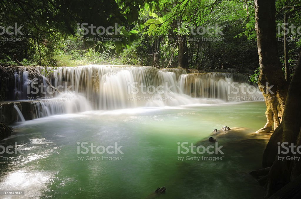 Huaymaekamin waterfall royalty-free stock photo