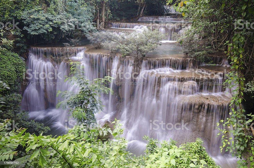 Huaymaekamin waterfall royalty-free stock photo