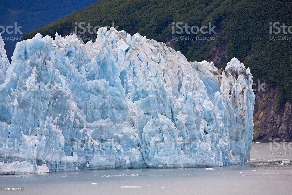 Hubbard Glacier, Alaska, detail of Blue Ice stock photo