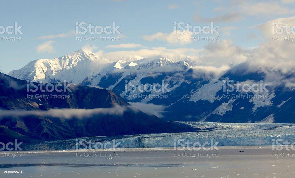 Hubbard Glacier And The Alaskan Wilderness stock photo