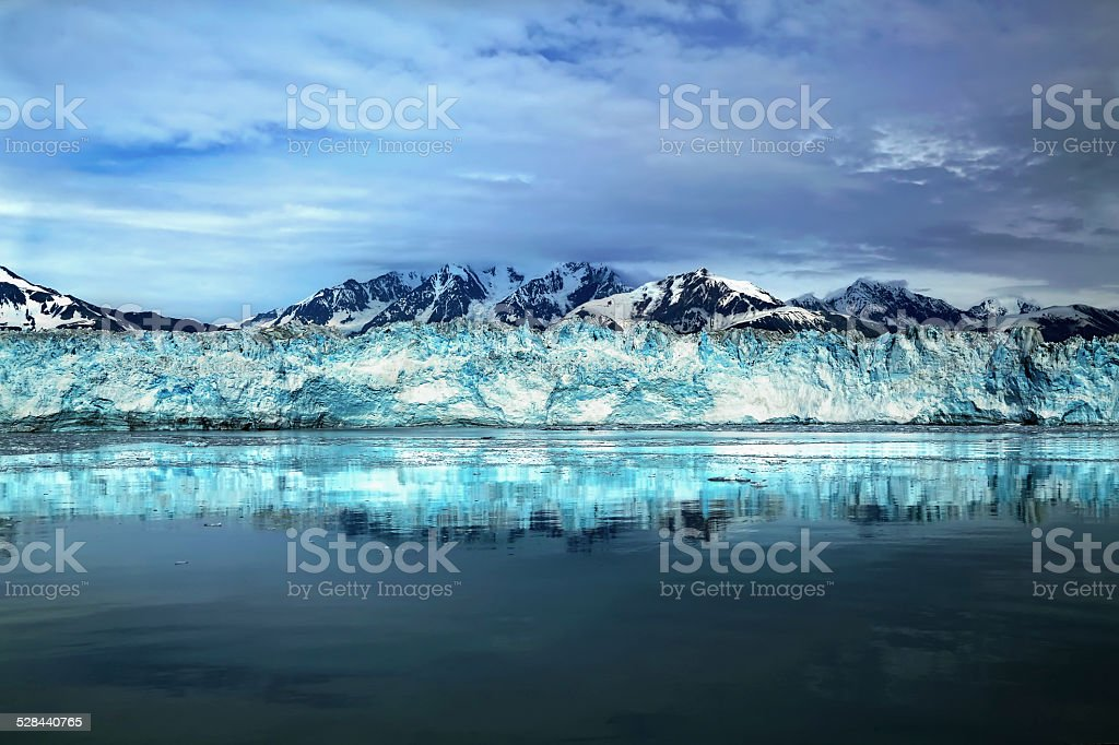 Hubbard Glacier in Alaska stock photo