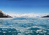 Hubbard Glacier in Alaska With Icy Water in Foreground
