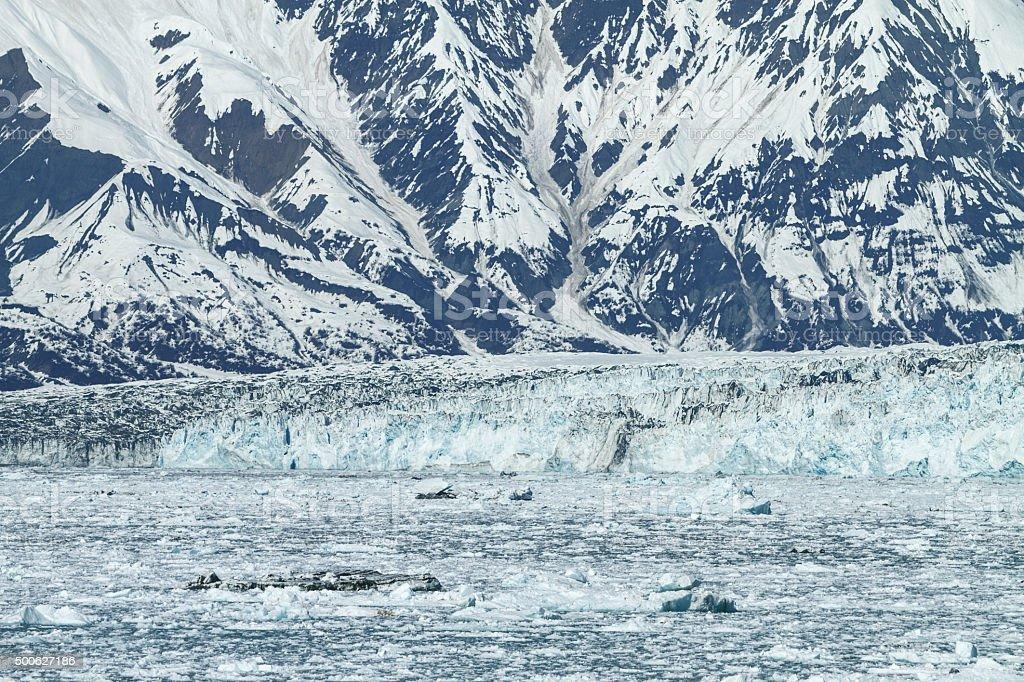 Hubbard Glacier in Yakutat Bay, Alaska. stock photo