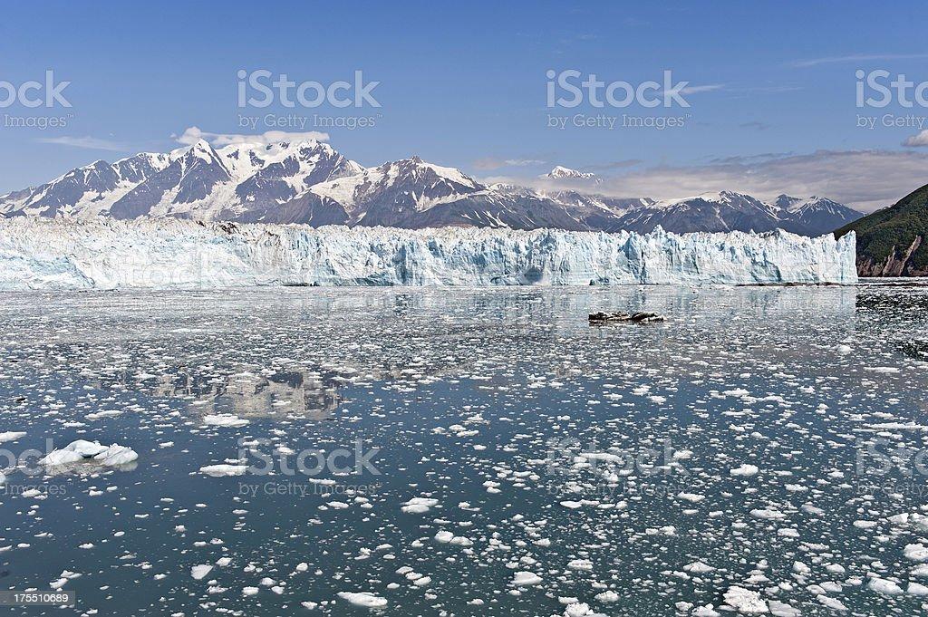 Hubbard Glacier near Seward Alaska stock photo