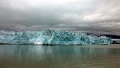 Hubbard glacier on a cloudy day, Glacier Bay, Alaska