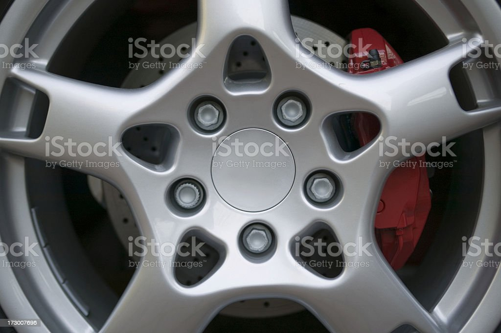 hubcap automobile wheel close-up royalty-free stock photo