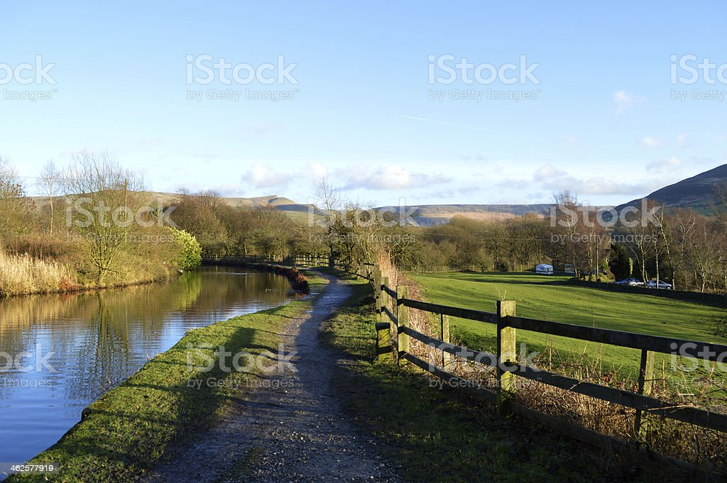 Hudderfield Narrow Canal in Friezland Oldham stock photo