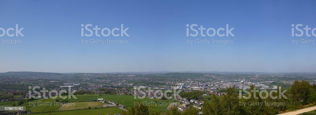 Huddersfield Panorama stock photo