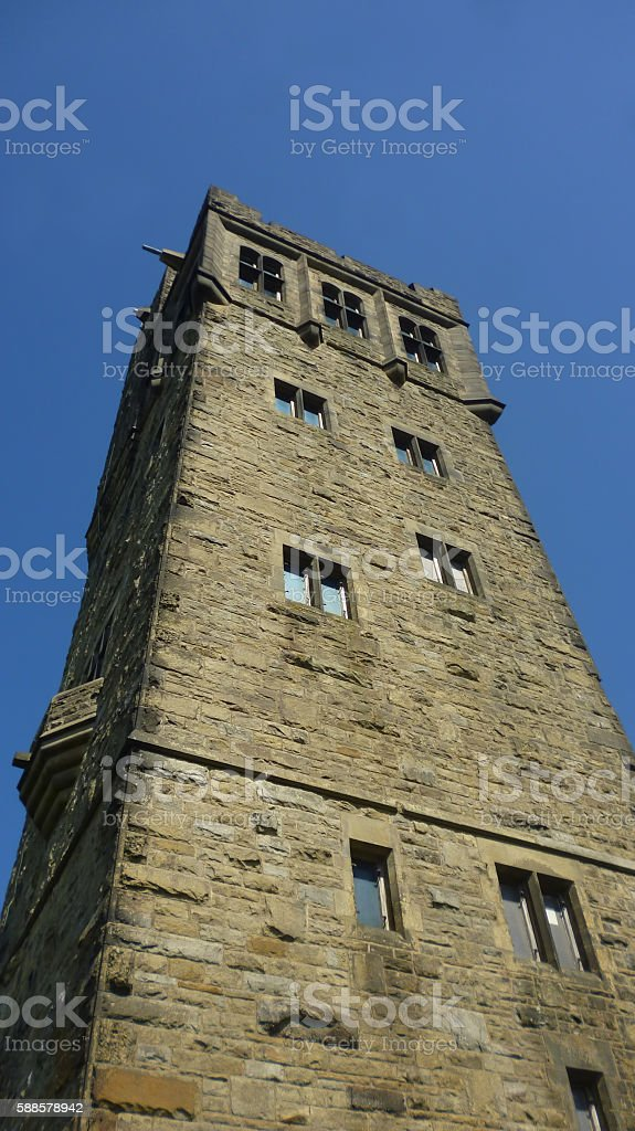Huddersfield Victoria Tower in Castle Hill stock photo