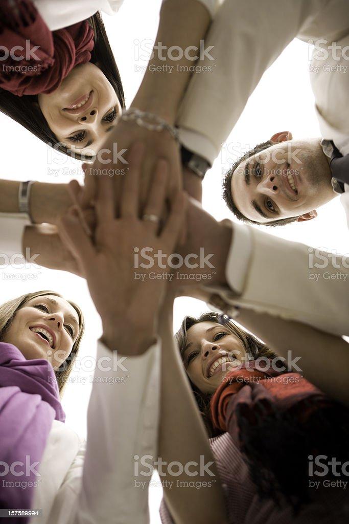 Huddle royalty-free stock photo