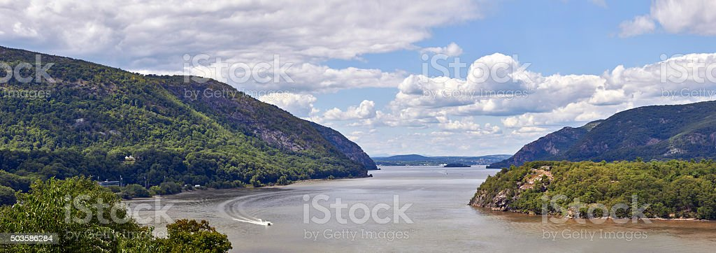 Hudson River at West Point stock photo