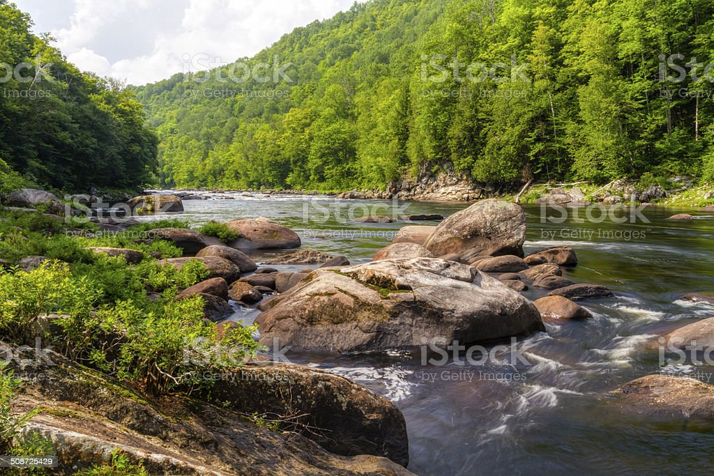 Hudson River Boulders stock photo