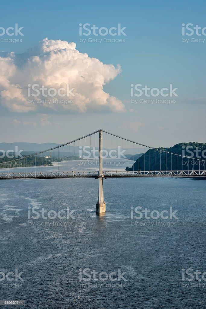 Hudson River Bridge stock photo