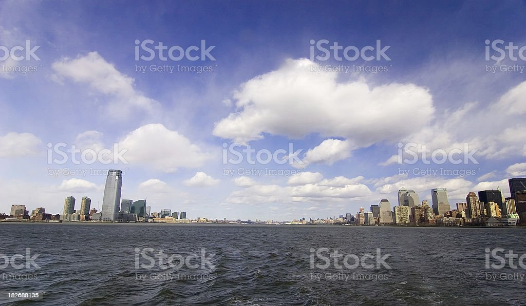 Hudson River, Manhattan and New Jersey royalty-free stock photo