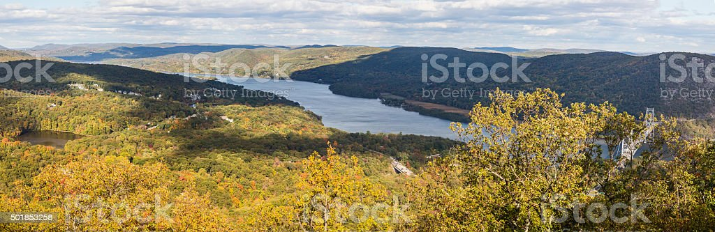Hudson River Valley Panorama stock photo