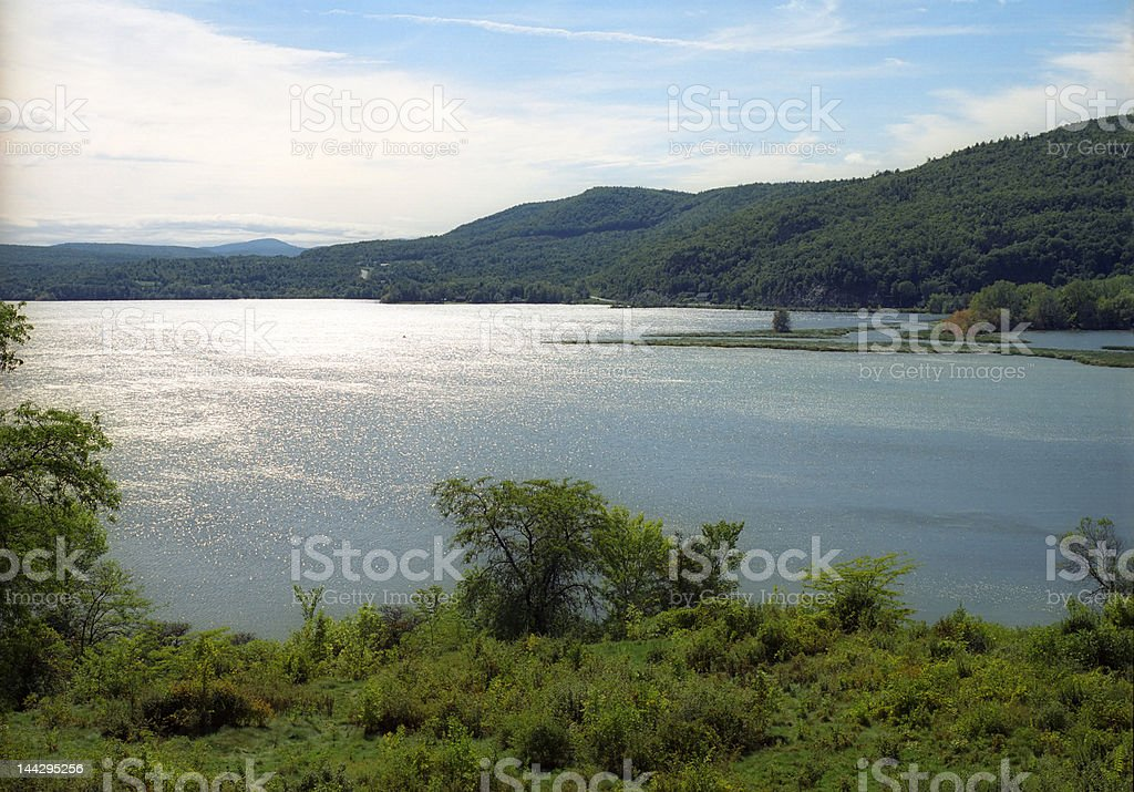 Hudson River Water View stock photo