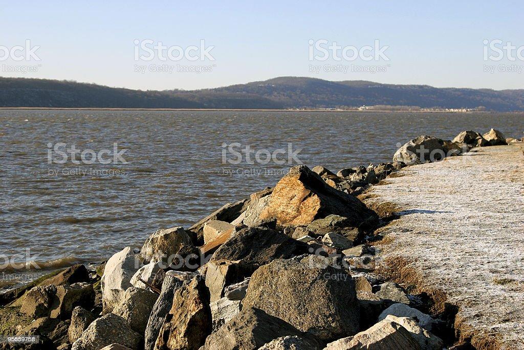 Hudson River Winter Scenic royalty-free stock photo