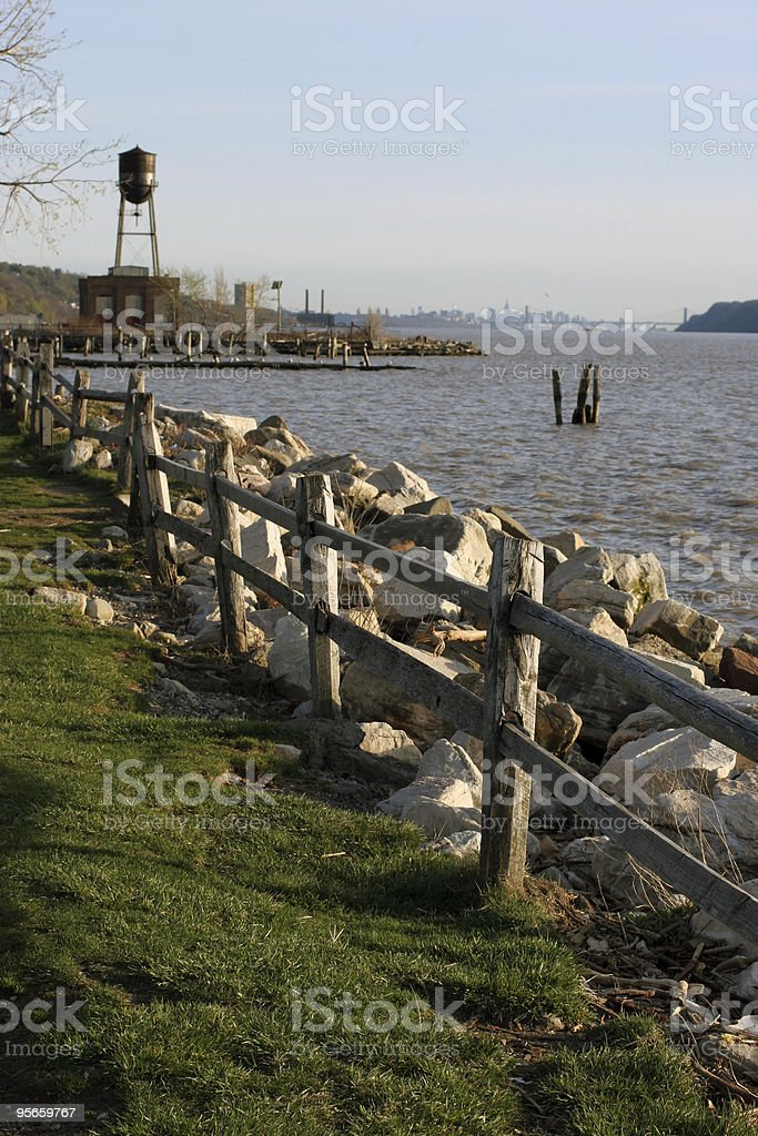 Hudson Shoreline royalty-free stock photo