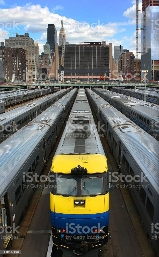 Hudson Train Yards stock photo