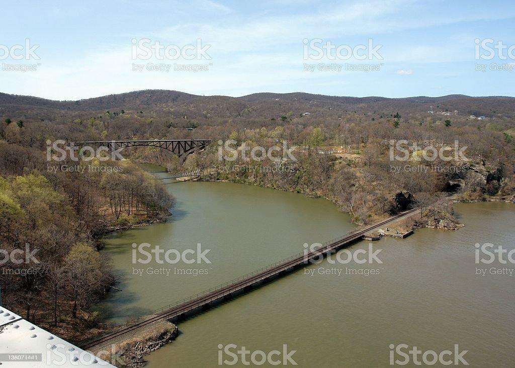 hudson valley scene stock photo