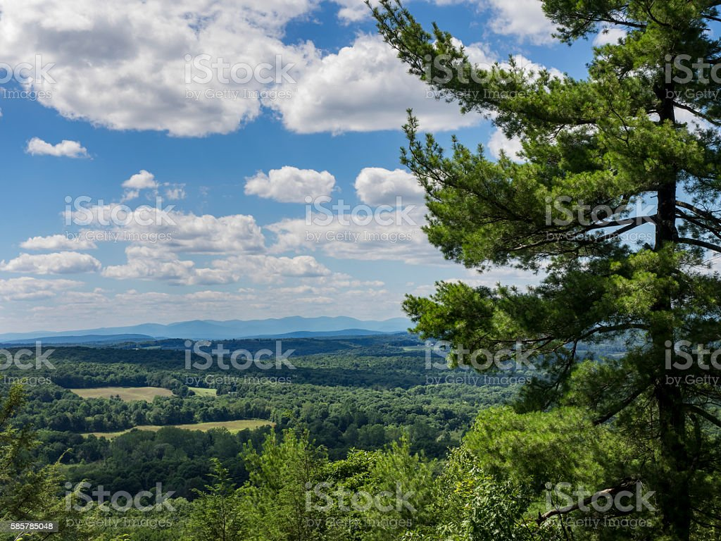 Hudson Valley View with Catskill Mountains stock photo