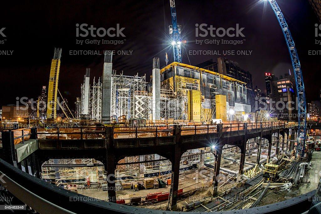 Hudson Yards Night stock photo