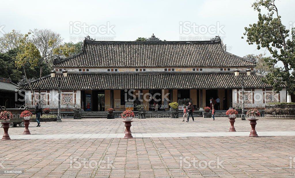 Hue Citadel, culture heritage of vietnam stock photo