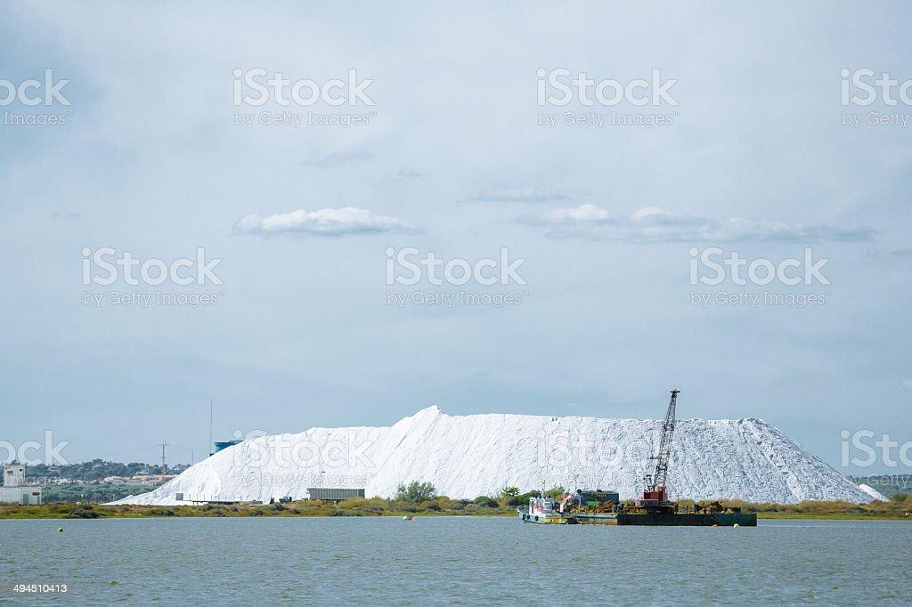 Huelva Salt Mining stock photo
