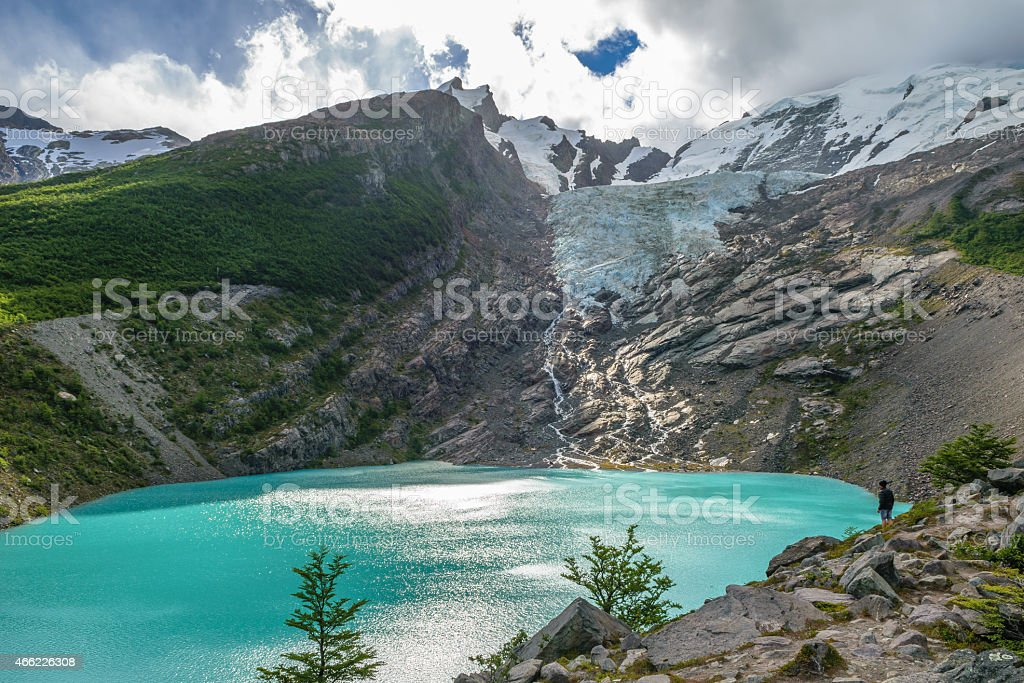Huemul Glacier Patagonia Argentina stock photo