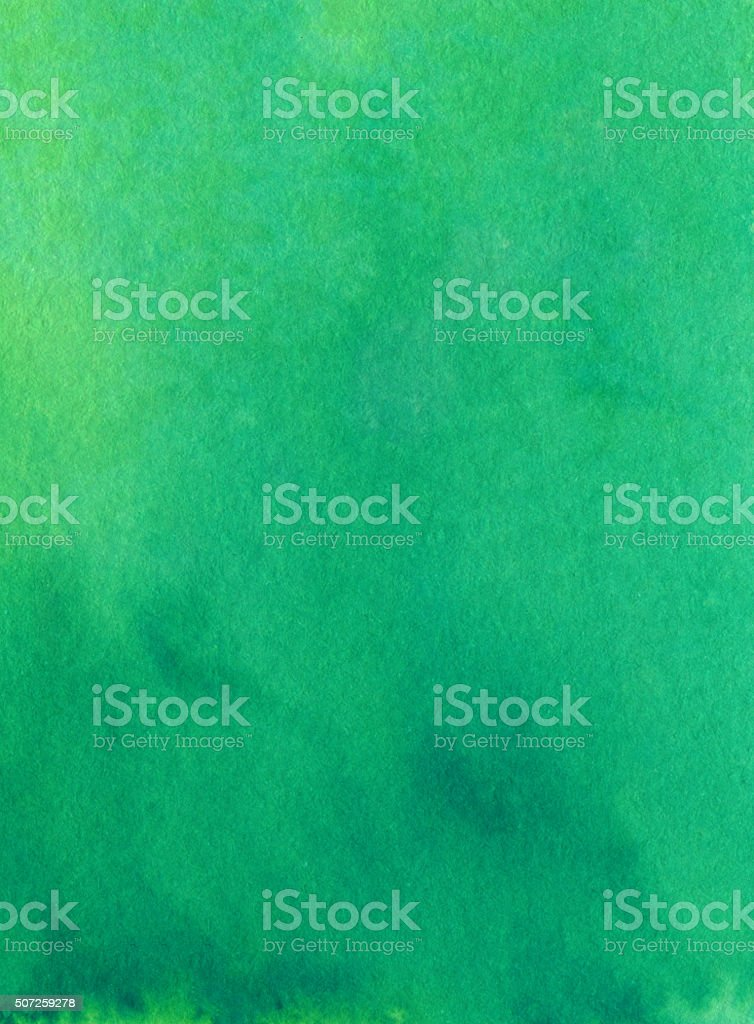 Hues of green hand painted with slight gradient of color vector art illustration