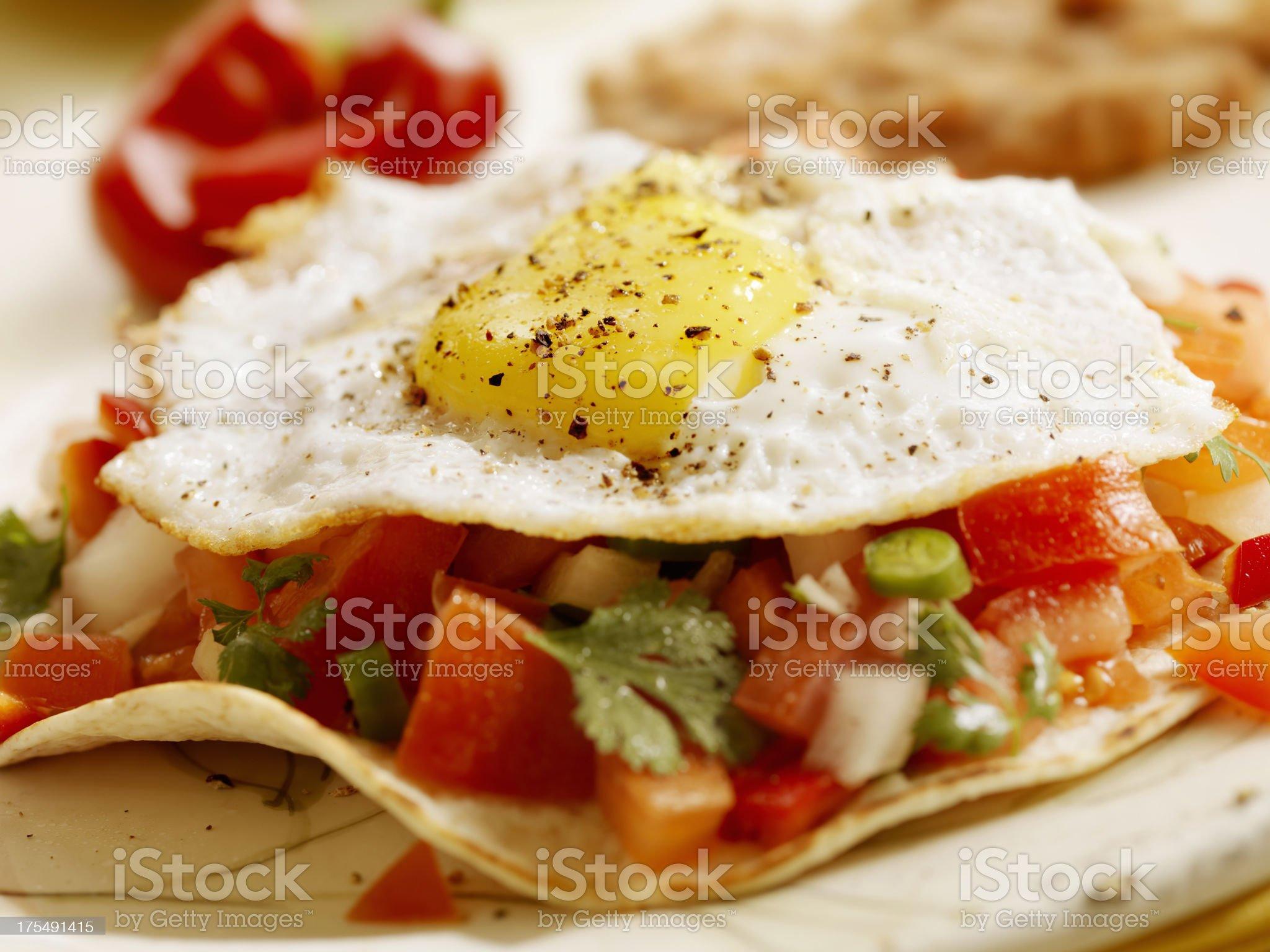 Huevos Rancheros royalty-free stock photo