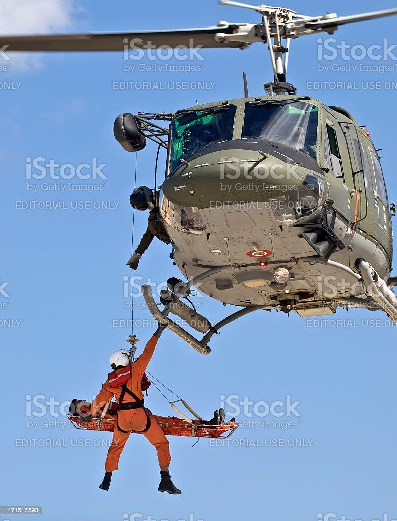 Huey UH1-N Medevac stock photo