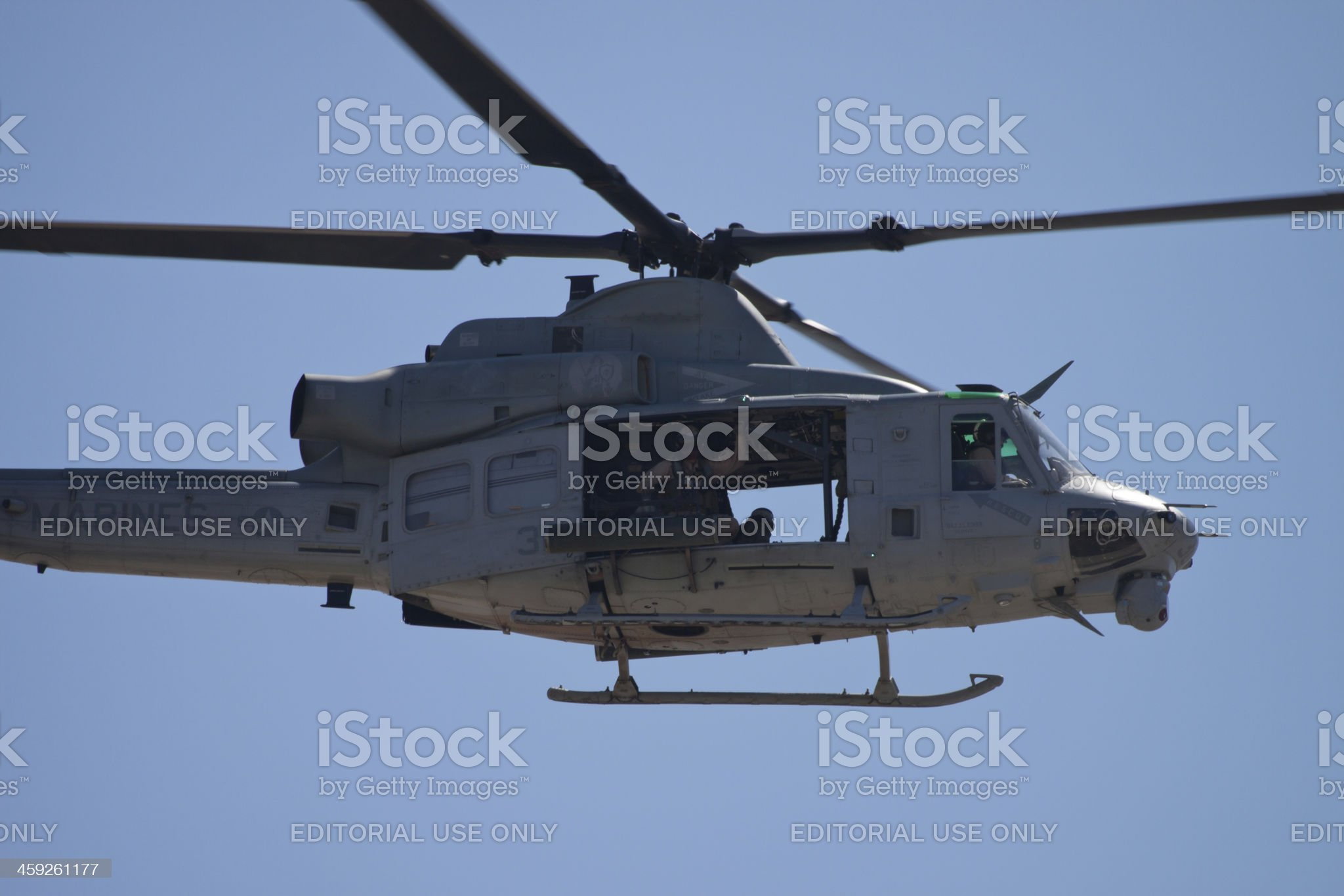 Huey With Marine In The Door royalty-free stock photo