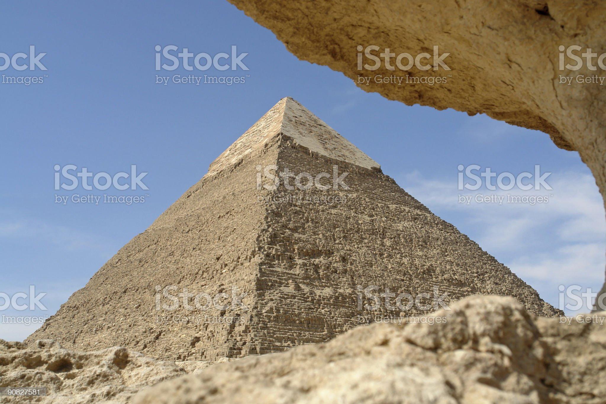 Hug of a Pyramid royalty-free stock photo