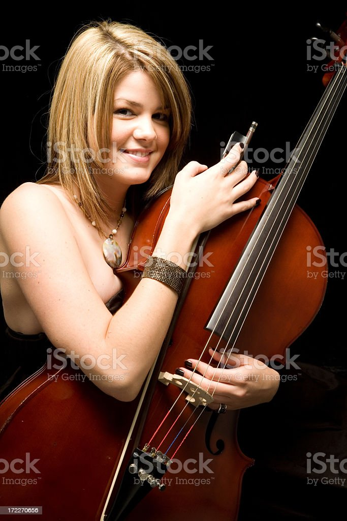 Hug your Instrument stock photo