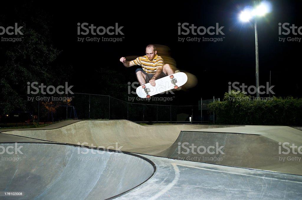 Huge Air in Skate Park stock photo
