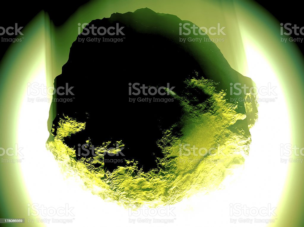Huge asteroid royalty-free stock photo