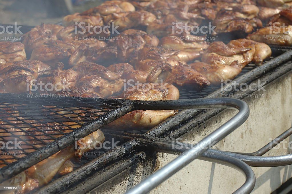 Huge Barbecue royalty-free stock photo