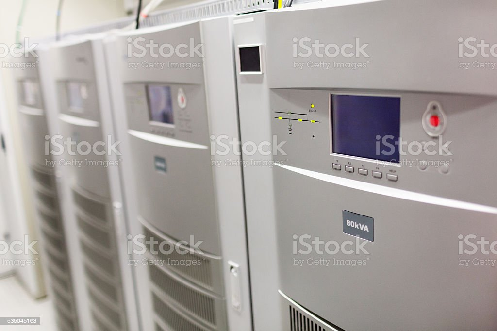 Huge batteries stock photo