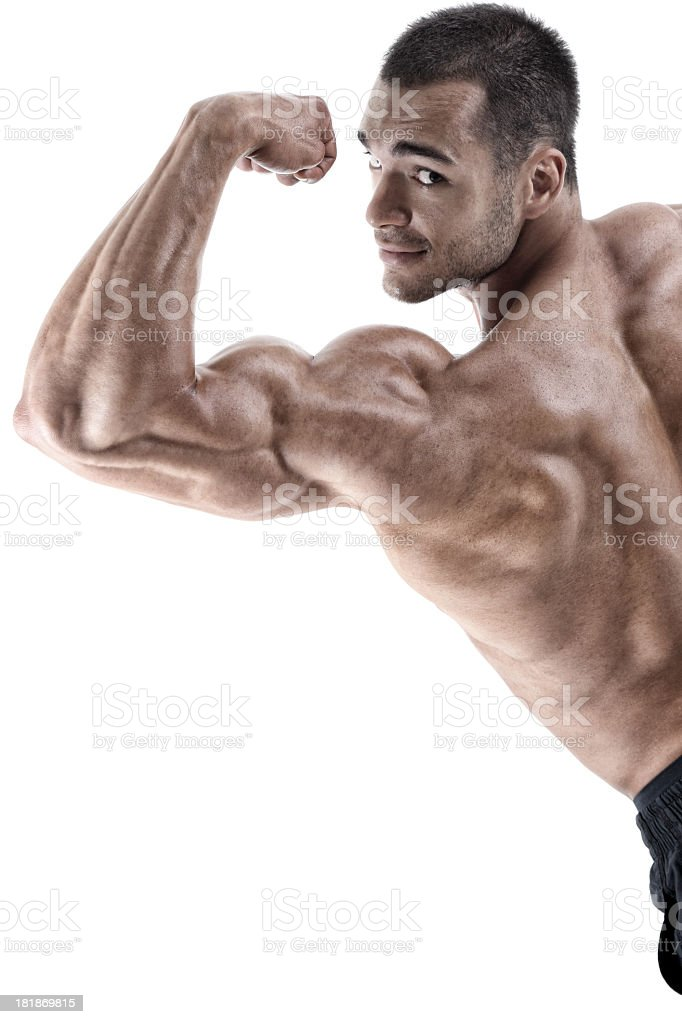 Huge biceps royalty-free stock photo