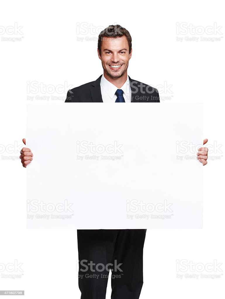 Huge billboard for your awesome product! royalty-free stock photo
